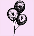birthday party balloons vector image