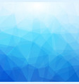 blue and white polygonal mosaic background vector image vector image