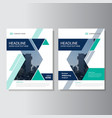 Blue Green annual report Leaflet Brochure vector image vector image