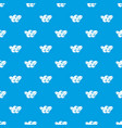 blueberries pattern seamless blue vector image vector image