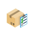 Box with with to do list icon isometric 3d style vector image vector image