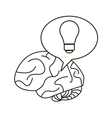brain thinking idea bubble outline vector image vector image