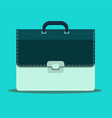 briefcase icon in flat style vector image