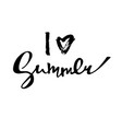 bright poster with hand lettering i love summer vector image vector image