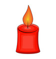 candle cartoon for christmas design isolated on vector image vector image