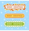 Christmas card with textbox vector image vector image