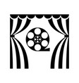 cinema theatre film reel vector image vector image