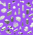 city map concept seamless pattern background 3d vector image vector image