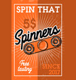 color vintage spinners banner vector image