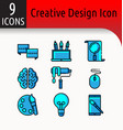 creative design color icon2 vector image
