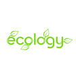 ecology word vector image vector image