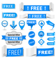 Free Labels vector image vector image