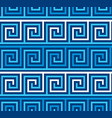 greek style meander geometric seamless pattern vector image