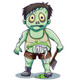 green creepy zombie man vector image