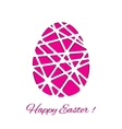 Happy Easter decorated paper egg design vector image