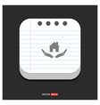 house security concept icon gray icon on notepad vector image vector image