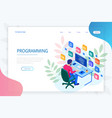 isometric programmer coding new project web vector image vector image