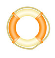 life buoy with rope - symbol of rescue and help vector image vector image