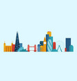 london famous places and landmarks vector image