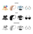 lottery hearing aid tonometer glassesold age vector image