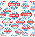 made in turkey seamless pattern background icon vector image vector image