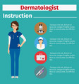 medical equipment instruction for dermatologist vector image vector image