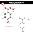 Methylparaben - food and cosmetic preservative vector image vector image