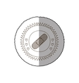 monochrome circular frame with middle shadow vector image vector image