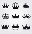 monochrome vintage antique crowns vector image vector image