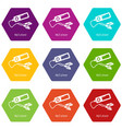 mp3 player icons set 9 vector image vector image