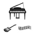 musical instrument monochrome icons in set vector image vector image