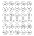 Outline Shopping Icons vector image