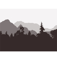 panoramic view forest and mountains vector image