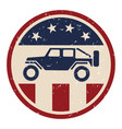 patriotic off road 4wd logo vector image