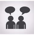 people talk icon vector image