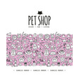 pet shop background seamless pattern for your vector image