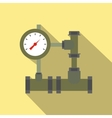Pipe flat icon with shadow vector image vector image
