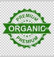 premium organic scratch grunge rubber stamp on vector image