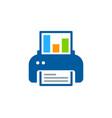 print report logo icon design vector image