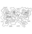 retro coloring treasure map design for app vector image