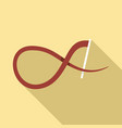 ribbon stick icon flat style vector image vector image