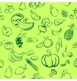 ruits and vegetables icon sketch vector image