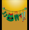 santa s helper clothes gifts mary christmas vector image vector image