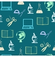 Seamless background with education objects vector image vector image