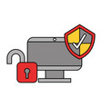 security data technology vector image vector image