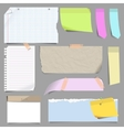 set blank note paper vector image