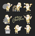set of christmas santa claus merry vector image vector image