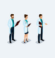 set of isometric medical workers vector image vector image