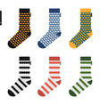 Set of socks with original hipster design vector image vector image