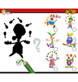 shadows activity with clowns vector image vector image